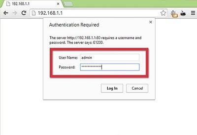 Admin login in 192.168 0.10 IP address