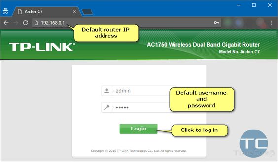 Default router login for 192.168 1.10: