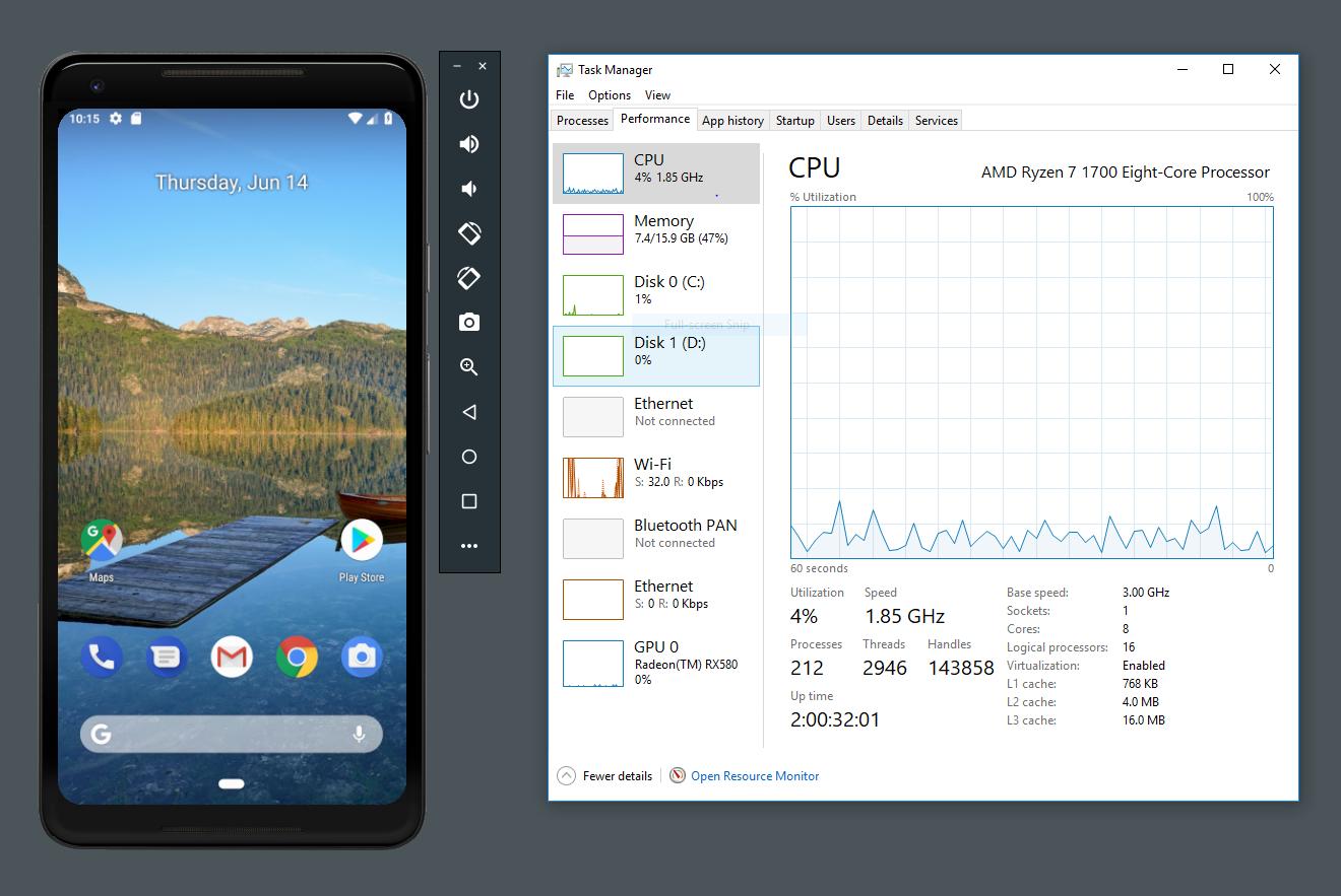 Android-studio's-emulator